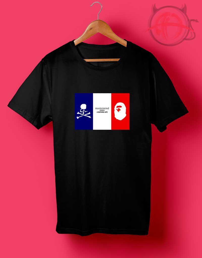 bd95262e4ea Mastermind x BAPE Paris T Shirt Paris T Shirt
