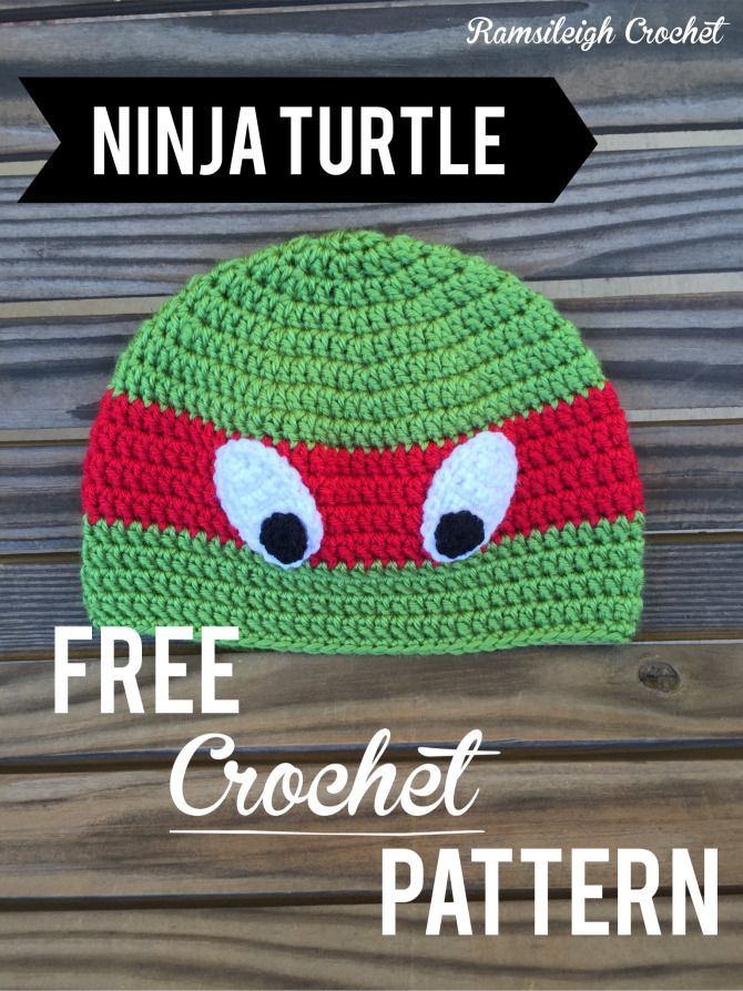 Ninja Turtle Hat Free Pattern Crochet Patterns Pinterest