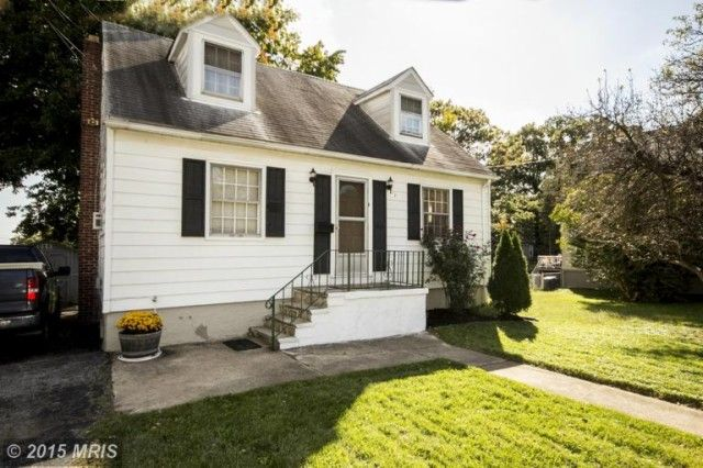 Move in Ready Cape Cod with Hardwood Floors throughout Main Floor and Stainless Steel Appliances in Kitchen. Full, Ready-to-be Finished Basement, & Covered Back Porch! MLS# BA8774743