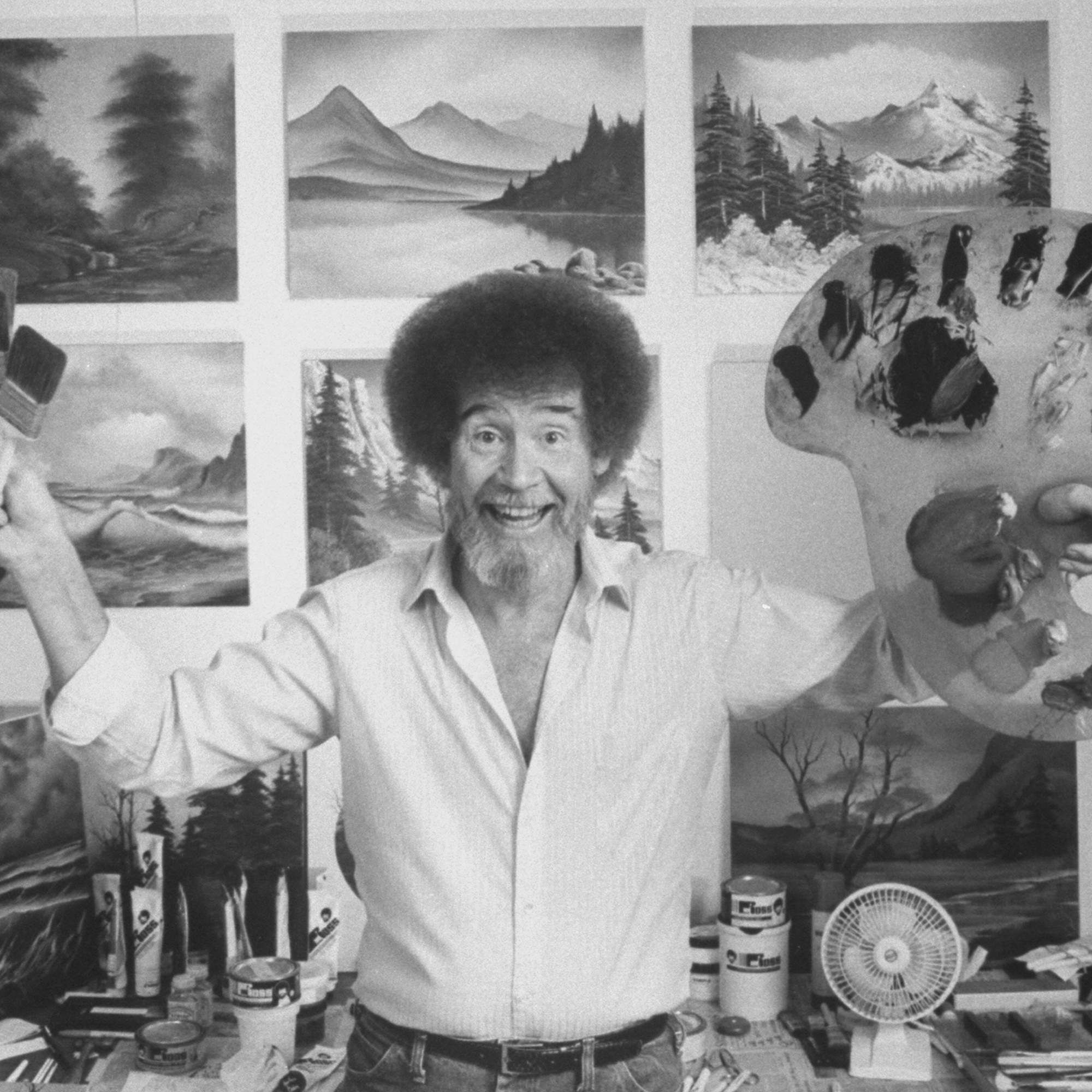 Happy Little Cocktails for Your Bob Ross Drink-and-Paint Party   Bob ross paintings, Bob ross, The joy of painting
