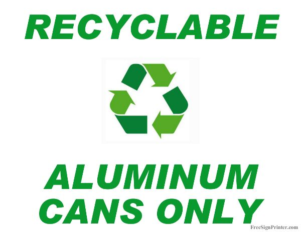 It is a photo of Printable Recycling Signs regarding easy