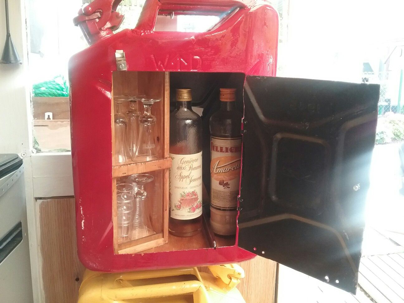 Pin By Hennie Fourie On Bewaren Liquor Cabinet Jerry Can Home Decor
