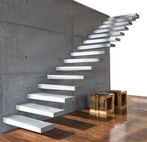RoomStone®   Exklusives Aus Sichtbeton, Freitragende Kragstufentreppe,  Hochleistungsbeton, Glasfaserbeton