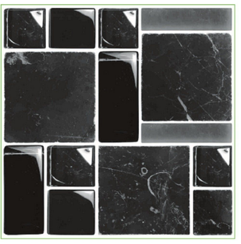 transfers for bathroom tiles pack of 10 glass effect black multi mosaic tile transfers 21018