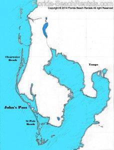 Map Of Florida Gulf Side.John S Pass Map Map Florida Pinellascounty Vacation Talk Of