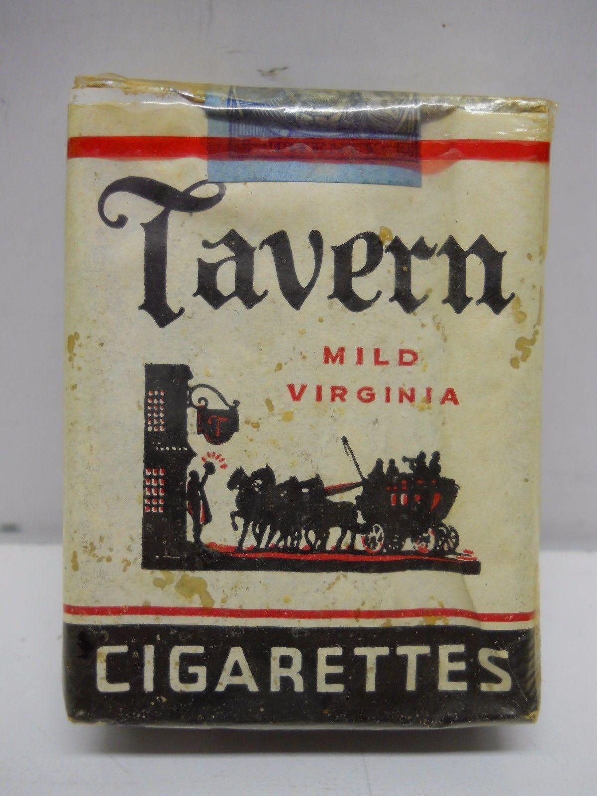 1950 Tavern Mild Virginia Cigarettes Pack Unopened Vintage Dunhill 20 Tobacco Ebay