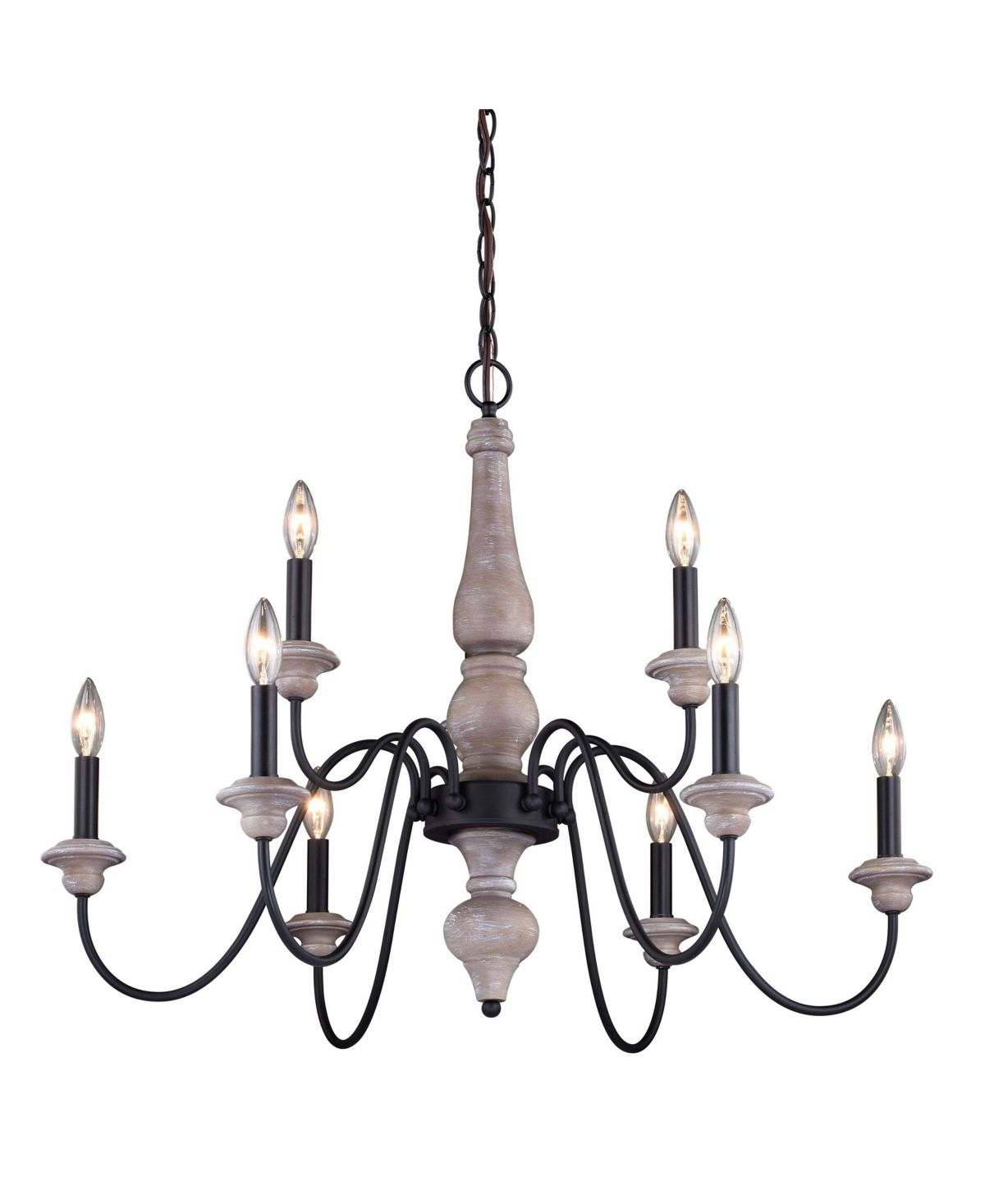Vaxcel Georgetown Wood And Farmhouse 9 Light Chandelier Reviews Home Macy S In 2020 Vaxcel Chandelier Lighting Chandelier