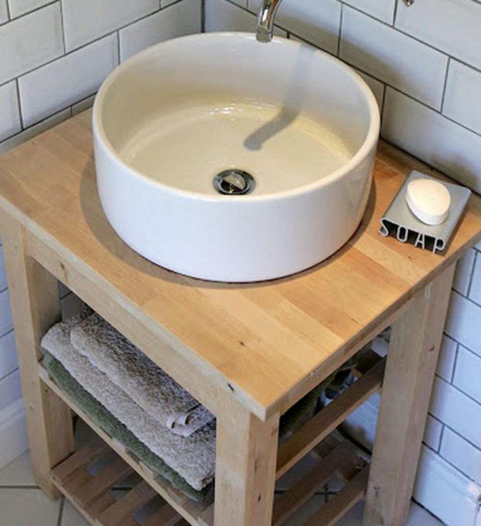 Bekvam Servierwagen Als Waschtisch Lave Main Wc Meuble Lave Main Wc Deco Toilettes