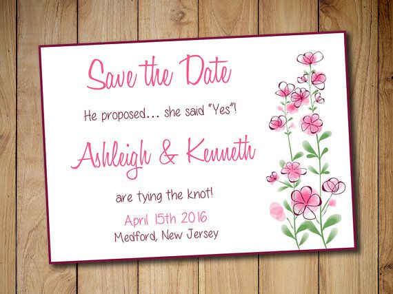 Printable Save The Date Template Download  Wedding Announcement