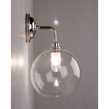 Lenham contemporary bathroom wall light with clear glass shade lenham contemporary bathroom wall light with clear glass shade mozeypictures Gallery