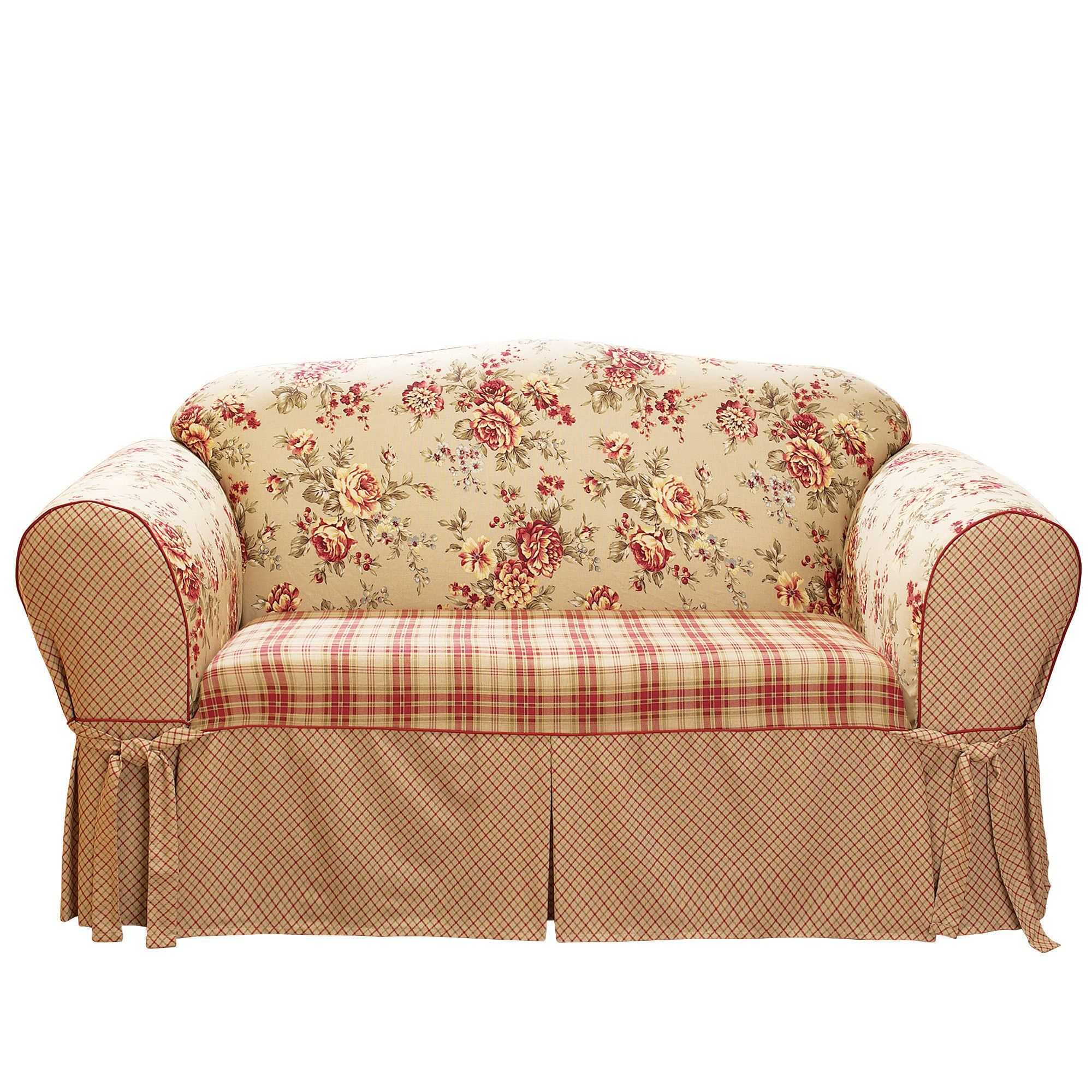 Loveseat Slipcover Sure Fit Red Slipcovers for chairs