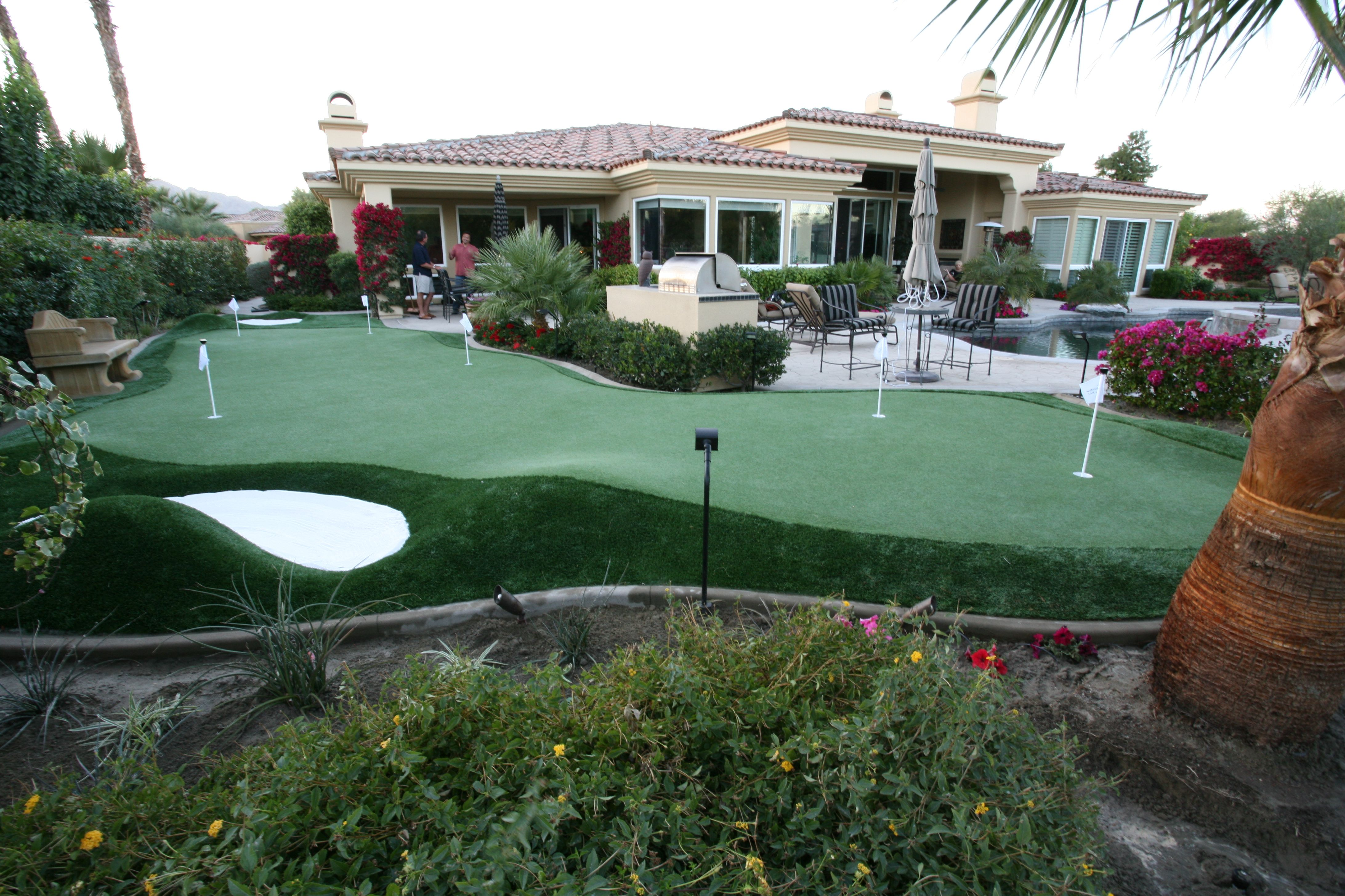 Artificial grass putting greens pictures back nine