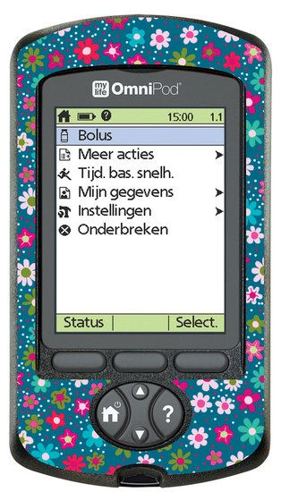 PDM Little flowers blue | FUdiabetes | Omnipod decorations