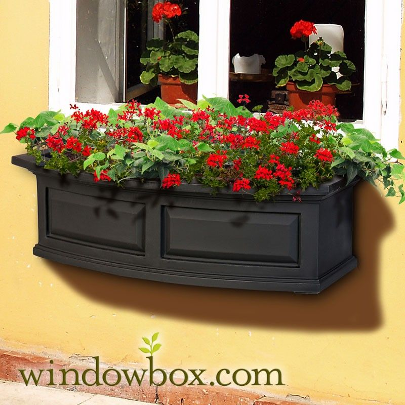 window boxes Presidential Window Box Black (With