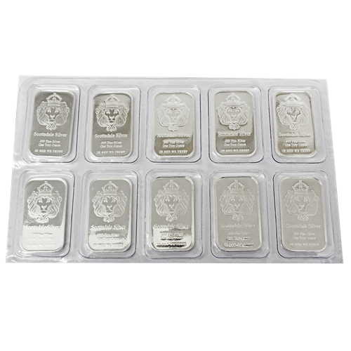 Scottsdale Mint 1oz 'The One' Silver 10 Bar Bundle