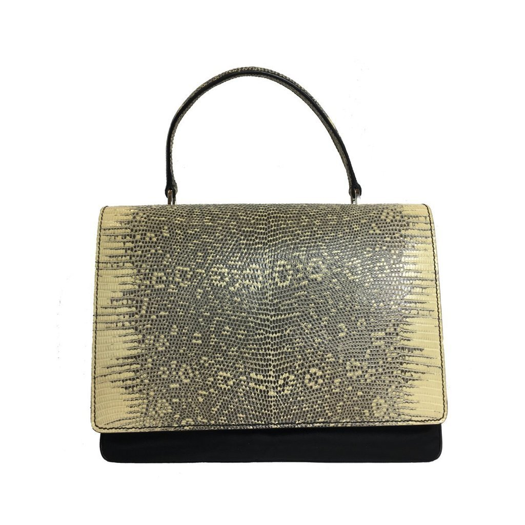 b892021af031 Prada Women s Golden Roccia Tessuto Lucerto Handbag 1BA016 ...