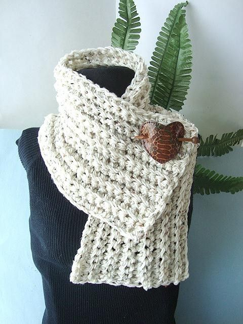 Crochet Pattern, CHUNKY RIDGED COWL num 106 or Scarf for men or ...