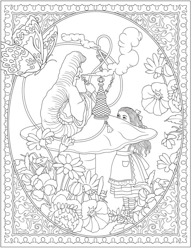 Creative Haven Alice In Wonderland Designs Coloring Book Dover