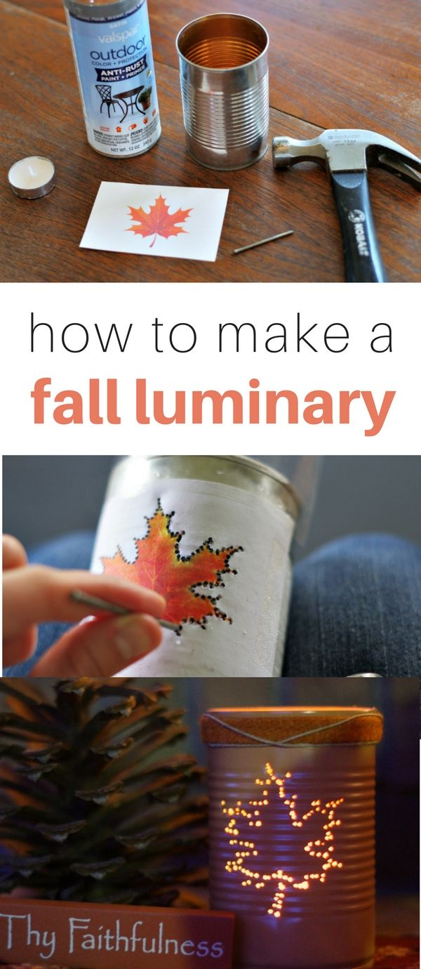 fall crafts diy easy craft luminary autumn tin thanksgiving sell cleverlysimple decorations fun holiday mason jar homemade simple idea plastic