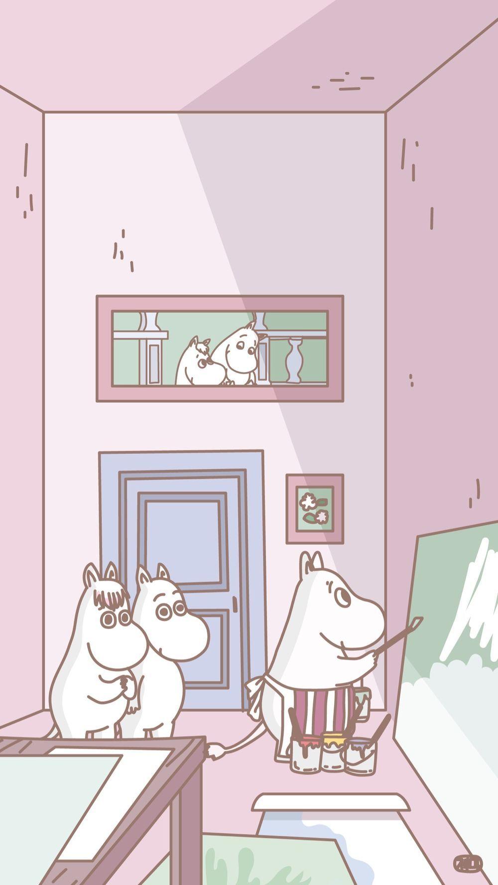 画像 ムーミンmoomin のスマホ壁紙 ホームロック画面 画像 北欧可愛い Naver まとめ Moomin Wallpaper Sanrio Wallpaper Cute Wallpapers
