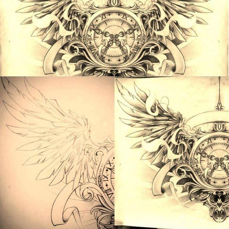 Timeless Color Clock Tattoo Design | Fresh 2017 Tattoos ...