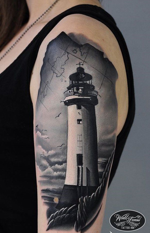 30 lighthouse tattoo ideas lighthouses lighthouse and sailors. Black Bedroom Furniture Sets. Home Design Ideas