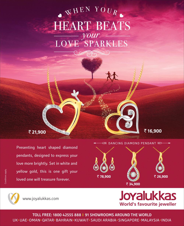 When Your Heart Beats your Love Sparkles   Joyalukkas   Pinterest ...