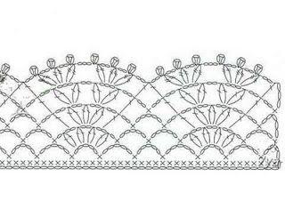 Grafico de linda puntilla a crochet