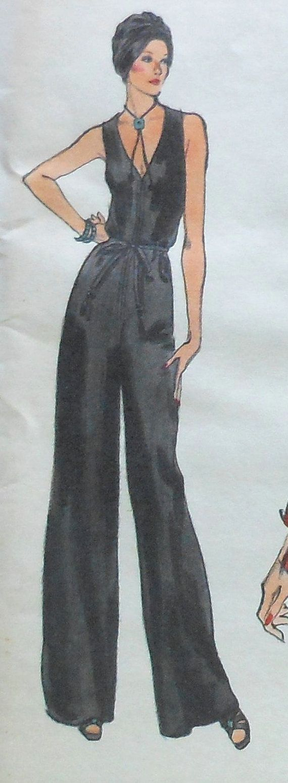 Vintage Vogue Jumpsuit and Jacket Sewing Pattern UNCUT 9253 Size 14 ...