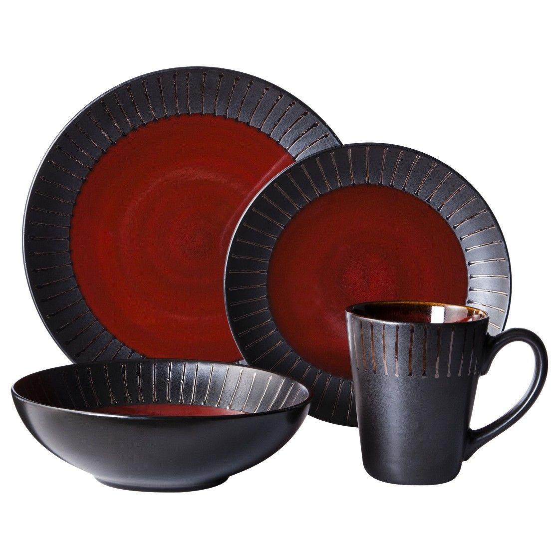 Threshold� 16 Piece Lawrence Dinnerware Set - Red