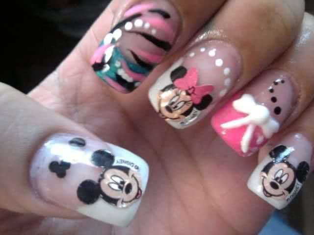 cute Disney nails -- Karli check this out