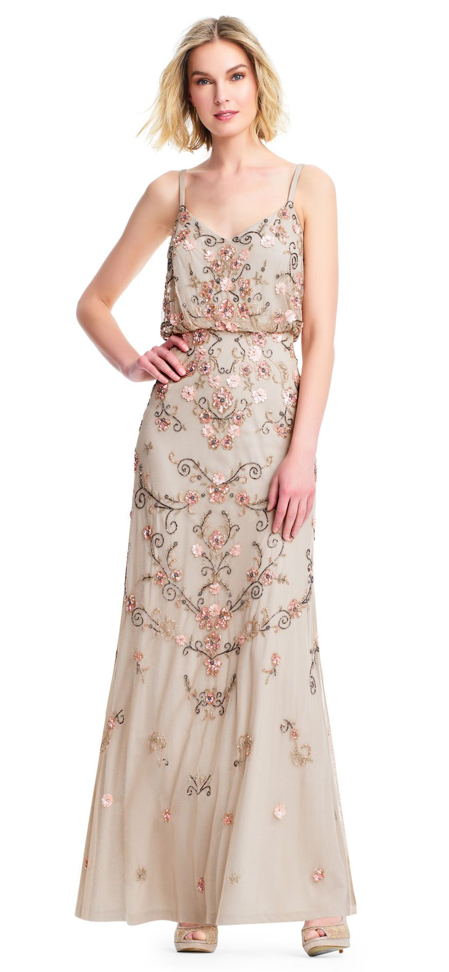 Boho Floral Beaded Blouson Gown What To Wear As A Guest At A