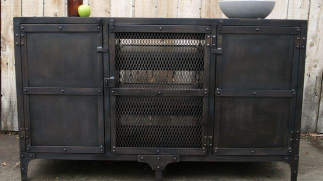 Handmade Industrial Metal Media Cabinet TV Console TV By JReal