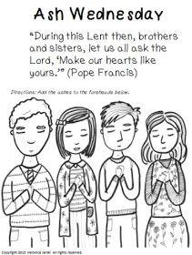 Free Lenten Printable Ash Wednesday Lent Lenten Activities