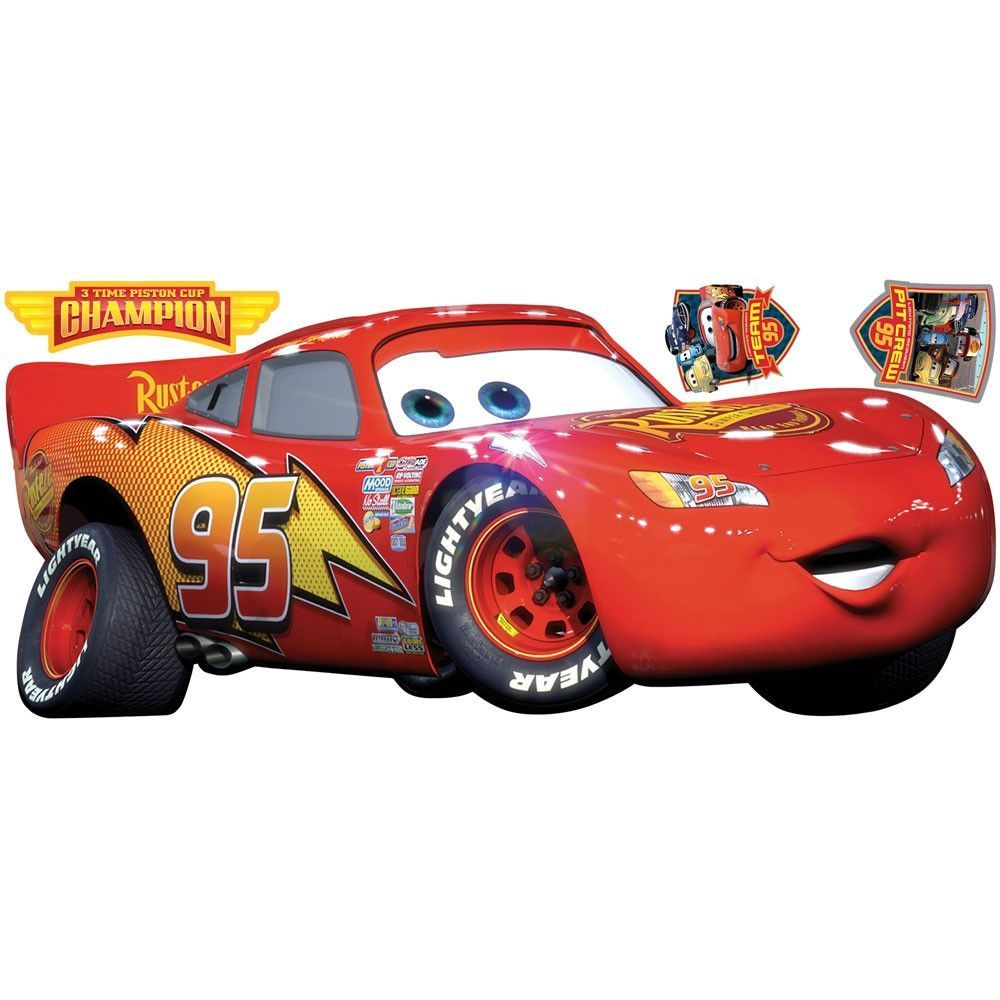 Cars Lightning Mcqueen Champion Wall Accent Decals