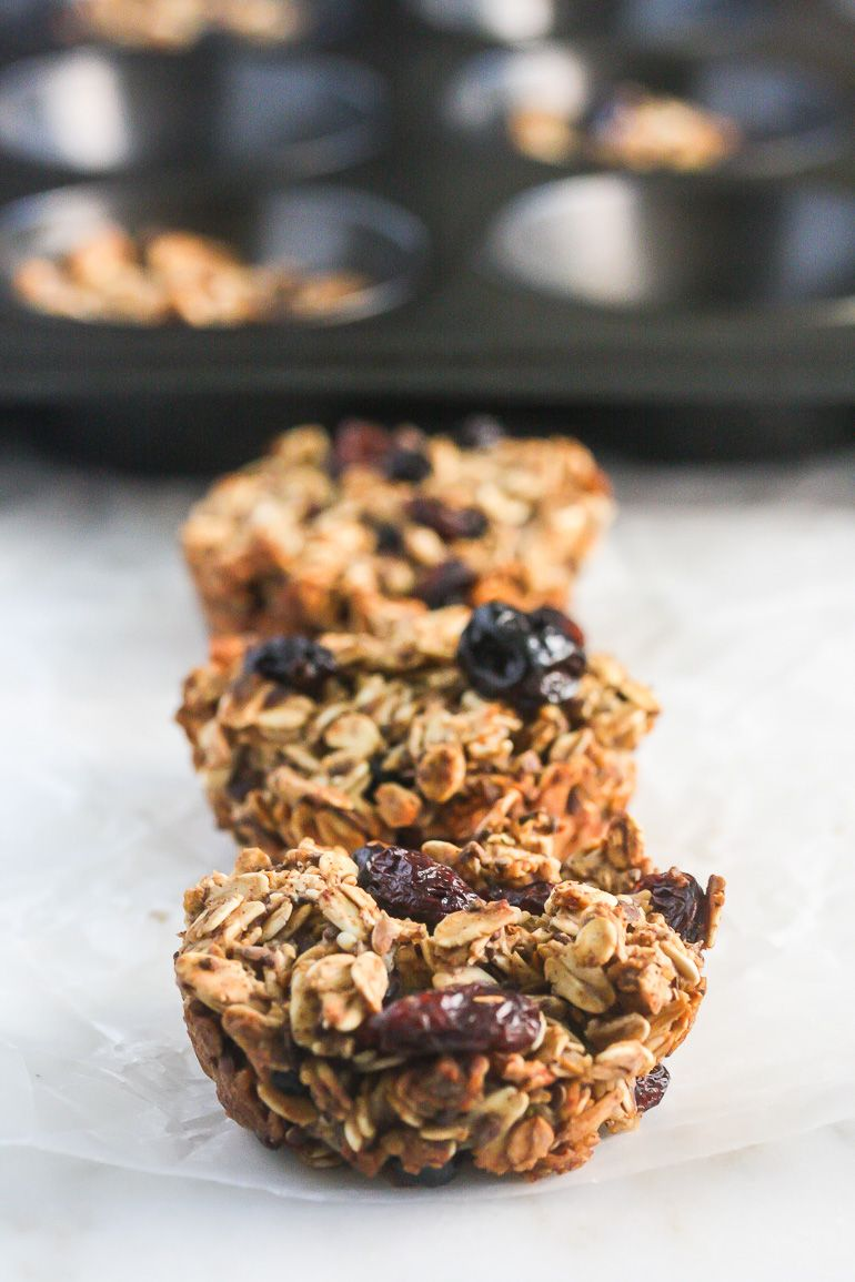 These Mixed Berry Oatmeal Cups make the perfect healthy, on-the-go breakfast!