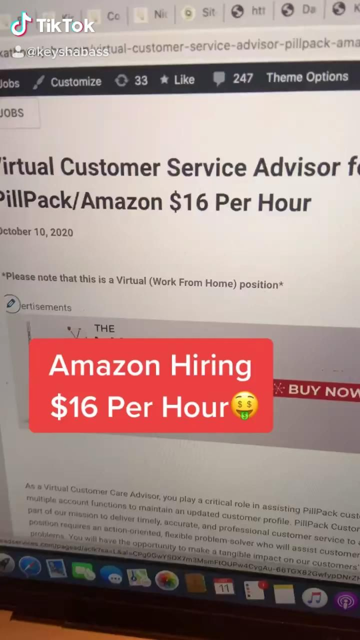 Amazon Hiring 16 Per Hour Video Work From Home Jobs Starting A New Job Working From Home