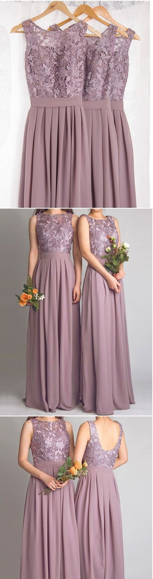 Cheap sleeveless lilac bridesmaid dresses comfortable long aline