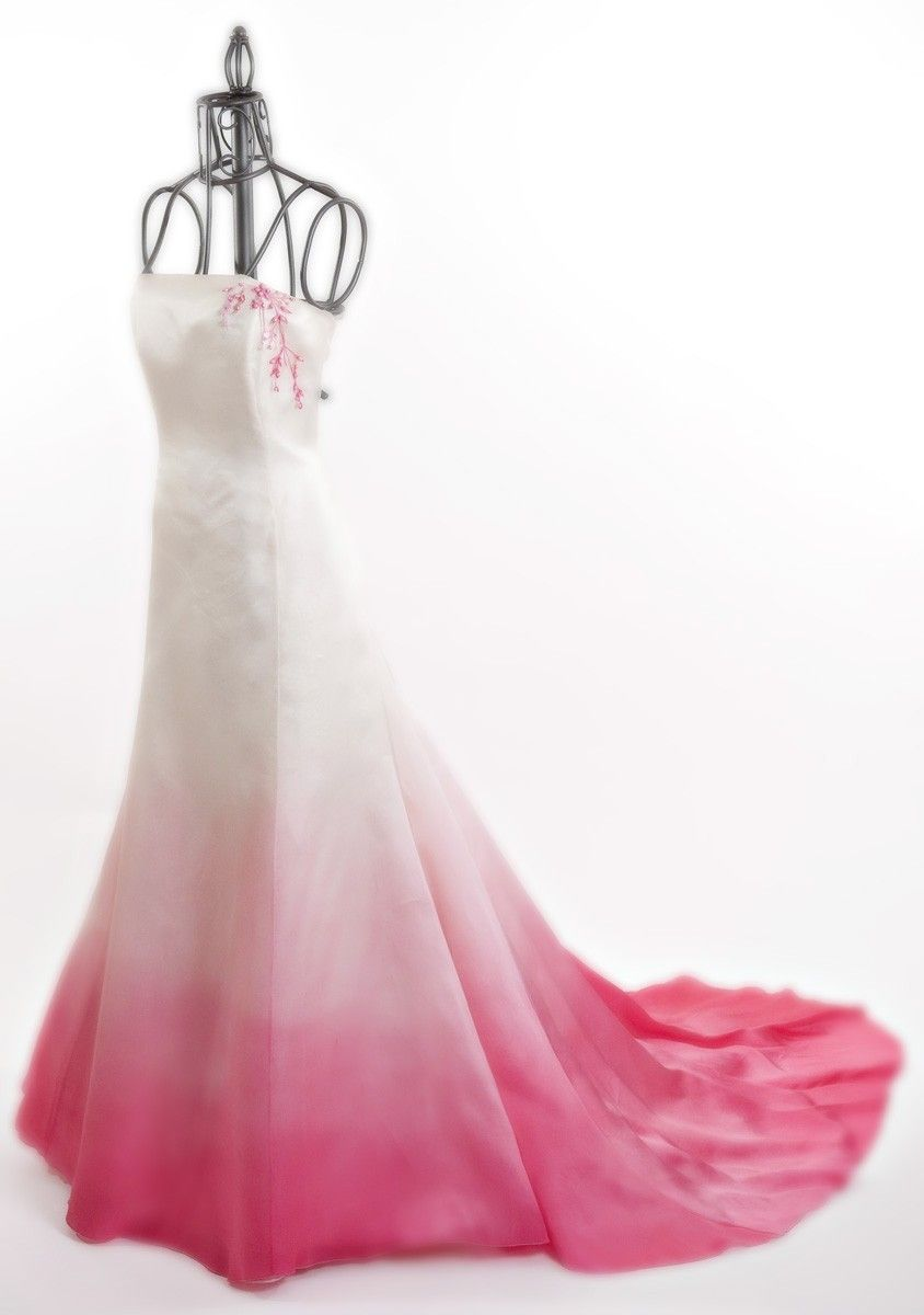 Ombre Wedding dress..not going to do this for my wedding, but its gorgeous!!