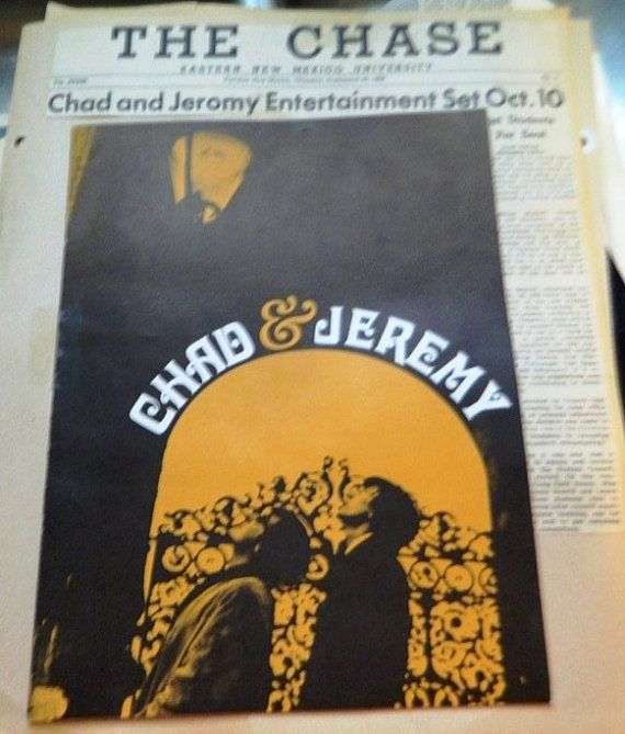 S Chad  Jeremy Concert Program Newspaper By Theidconnection