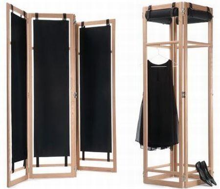 Biombo tela biombo en madera y tela build something - Estanterias separadoras de ambientes ...
