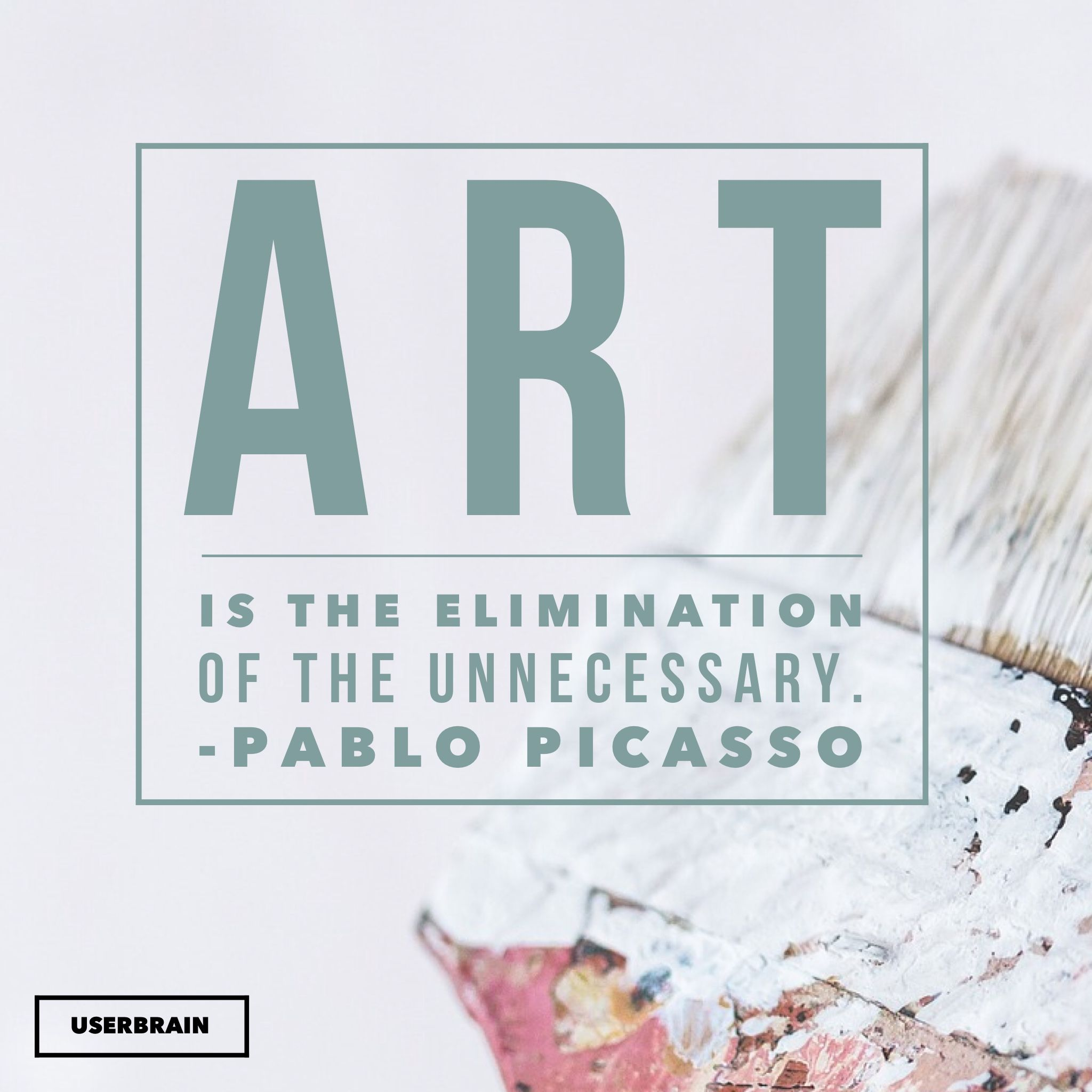 Sso Quote Art Is The Elimination Of The Unnecessary Pablo Picasso