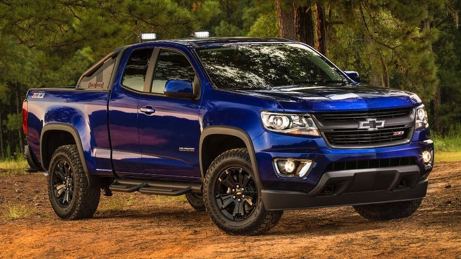 Chevy Steers The Colorado Z71 Off Road With Trail Boss Package Chevy Colorado Chevy Trucks Chevy Trucks Older