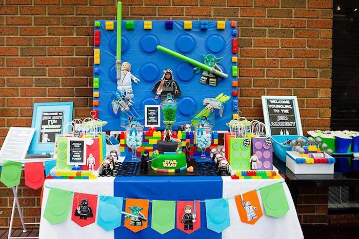 Head Table from a Lego Star Wars Birthday Party via Kara's Party ...
