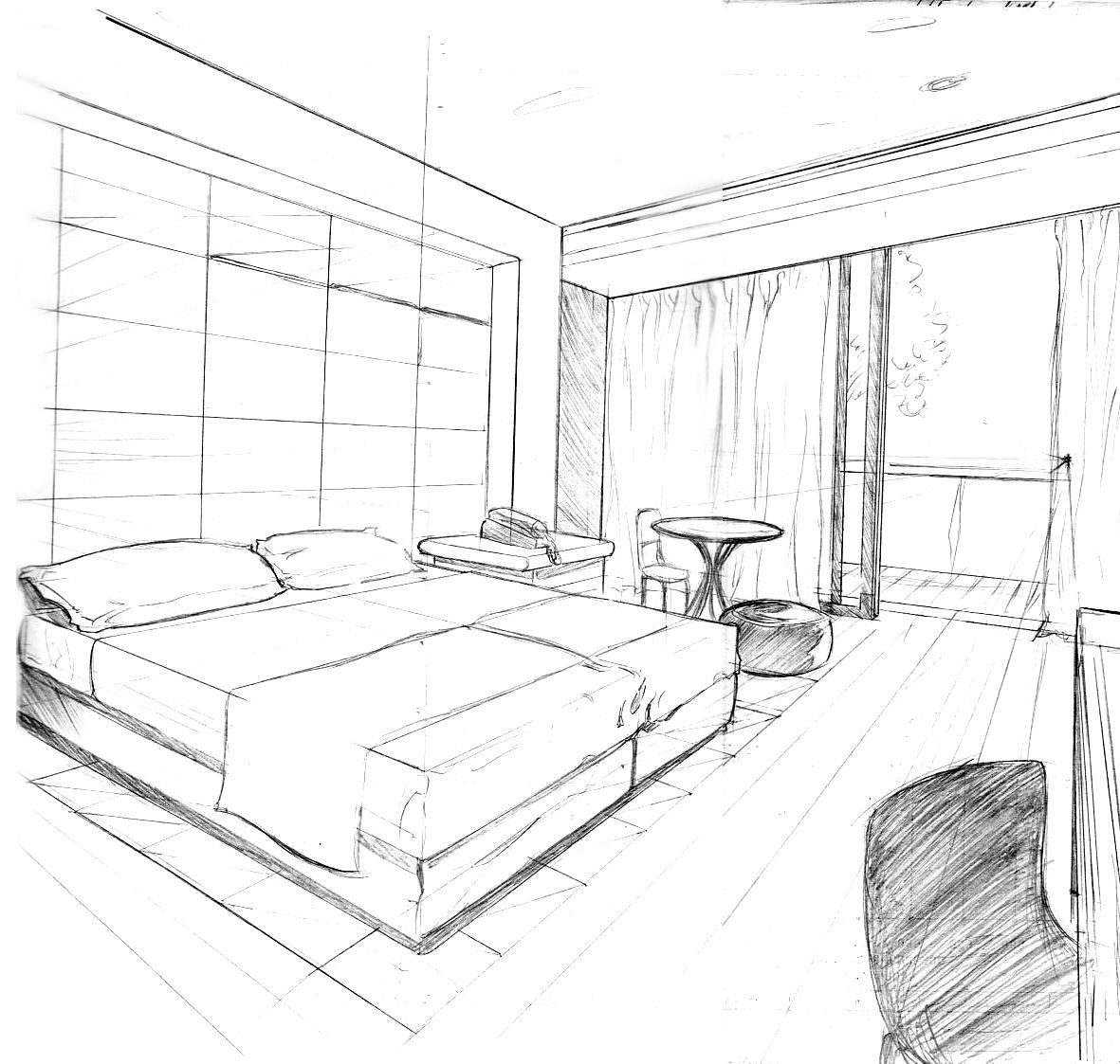 Perspectiva pesquisa google point perspective drawing interior sketch architecture also rh pinterest