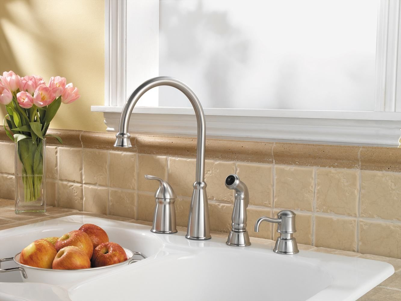 kitchen faucet 4 hole stainless steel