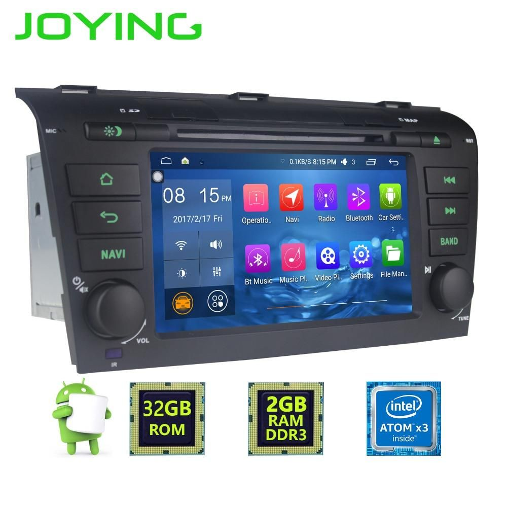 """7""""Joying Double 2 Din Android 6.0.1 Quad Core 2GB+32GB 1024*600 Car Radio Stereo GPS Navigation For Mazda 3 2004~2008 Head unit"""