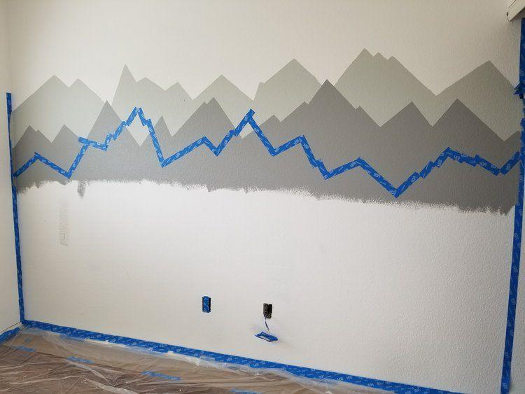 DIY Mountain Mural for Nursery
