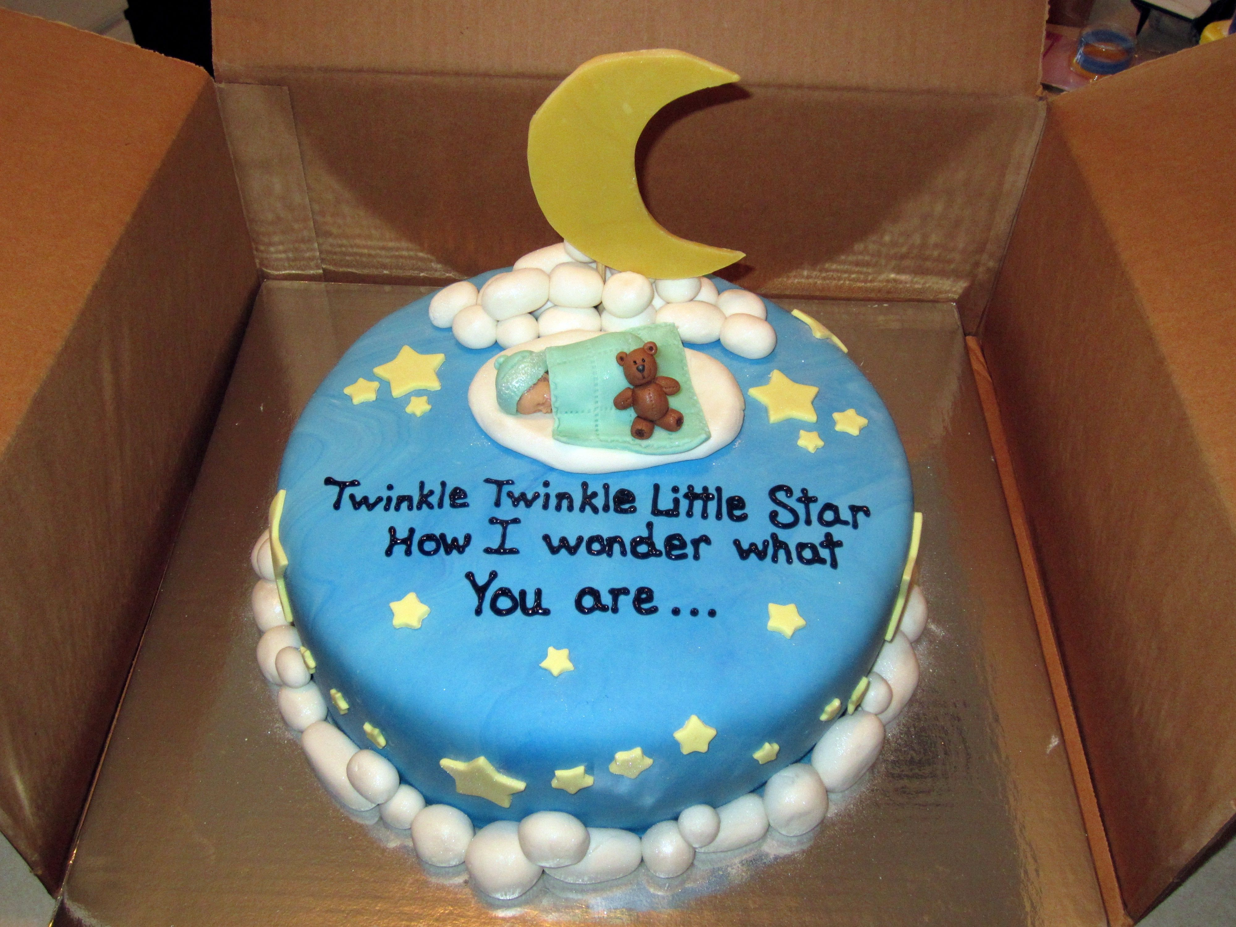 Twinkle Twinkle Little Star Gender Reveal Cake Twinkle Twinkle
