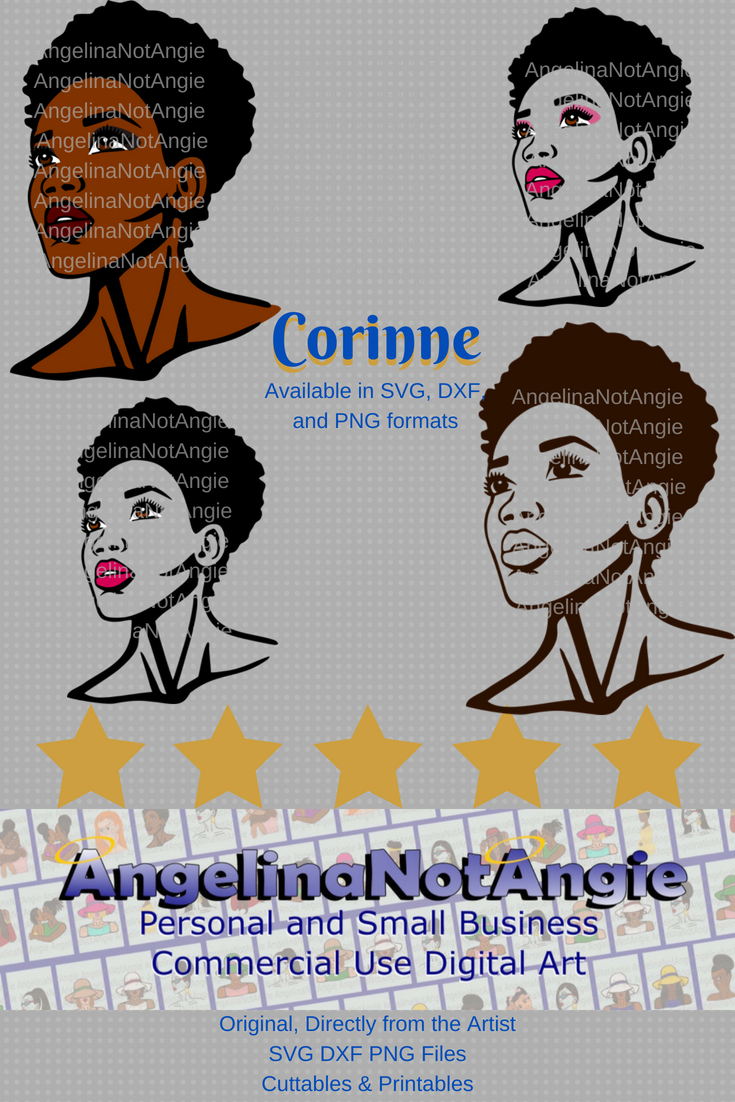 AFRO WOMAN SVG DxF File Natural Hair SvG African